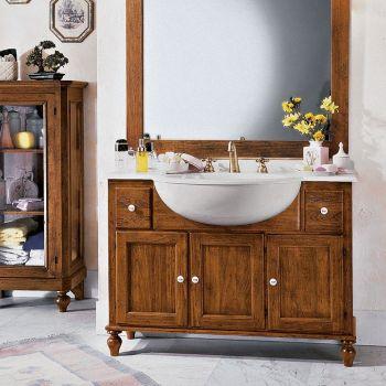Piano in mineral marmo con vasca per bagno.