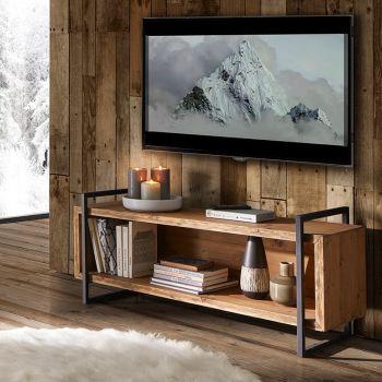 Porta tv a giorno gambe in ferro.